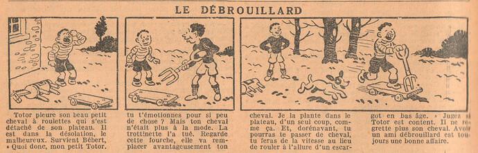 Le Petit Illustré 1929 - n°1284 - page 12 - Le débrouillard - 19 mai 1929
