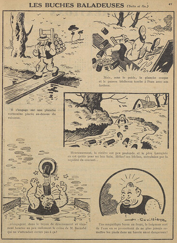 Guignol 1930 - n°147 - Les buches baladeuses (suite et fin) - 15 juin 1930 - page 47