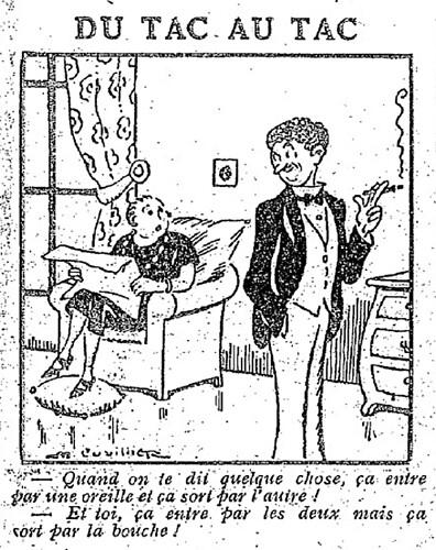 Le Pêle-Mêle 1927 - n°181 - page 10 - Du tac au tac (G) - 7 août 1927