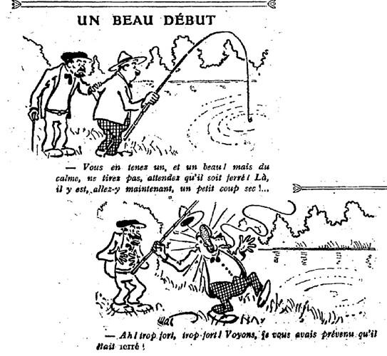 Le Pêle-Mêle 1926 - n°109 - page 2 - Un beau début (G) - 21 mars 1926