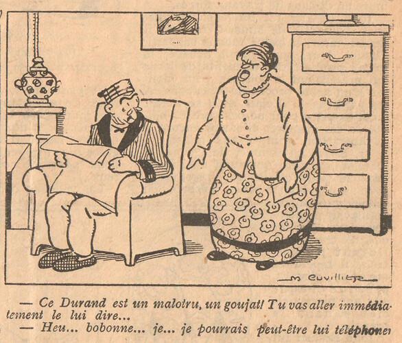 Le Pêle-Mêle 1925 - n°54 - page 7 - Ce Durand est un malotru - 1er mars 1925