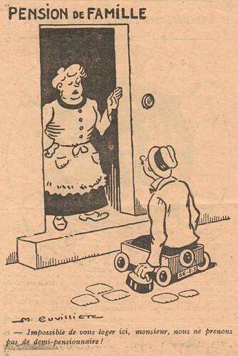 Le Pêle-Mêle 1927 - n°189 - page 18 - Impossible de vous loger ici monsieur - 2 octobre 1927
