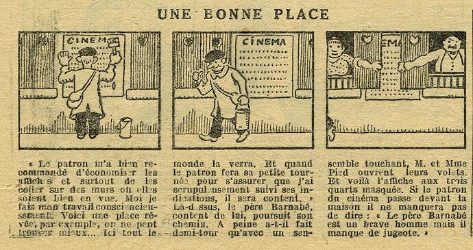 Le Petit Illustré 1929 - n°1266 - page 14 - Une bonne place - 13 janvier 1929