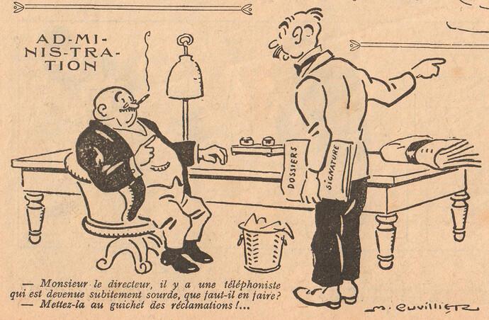 Le Pêle-Mêle 1925 - n°70 - page 16 - Administration - 21 juin 1925