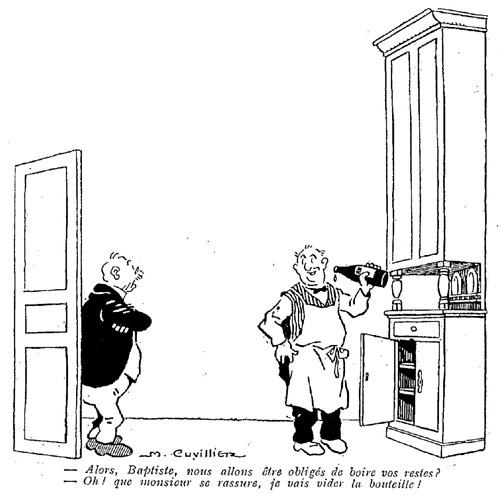 Le Pêle-Mêle 1925 - n°68 - page 16 - Alors Baptiste nous allons être obligés de boire vos restes (G) - 7 juin 1925