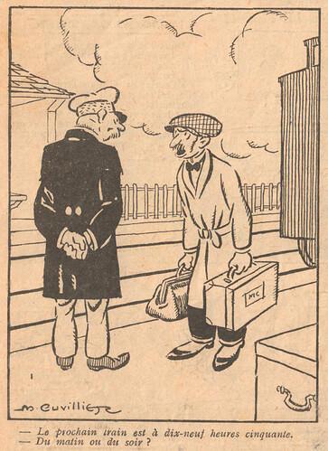 Le Pêle-Mêle 1924 - n°39 - page 7 - Le prochain train est à dix-neuf heures cinquante - 16 novembre 1924