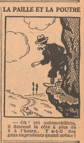 Le Petit Illustré 1929 - n°1294 - page 7 - La paille et la poutre - 28 juillet 1929