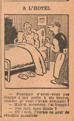 Le Petit Illustré 1929 - n°1303 - page 7 - A l'hôtel - 29 septembre 1929
