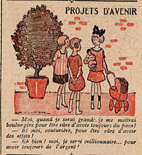 Le Pêle-Mêle 1925 - n°90 - page 11 - Projets d'avenir - 8 novembre 1925