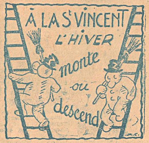 Almanach CV-AV 1946 - REBATIR - page 41- Proverbe de Novembre
