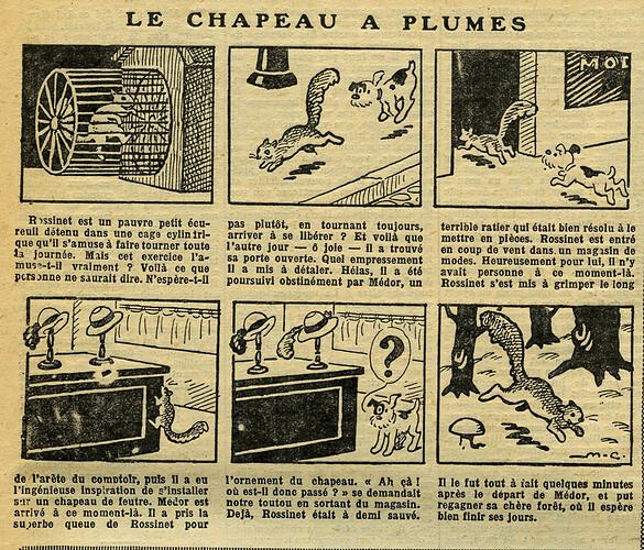 Fillette 1933 - n°1297 - page 13 - Le chapeau à plumes - 29 janvier 1933