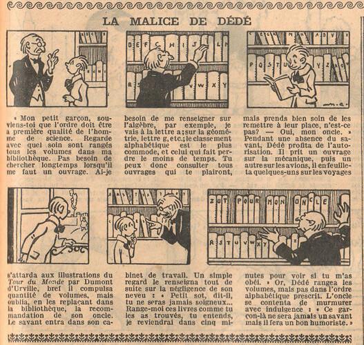 Le Petit Illustré 1929 - n°1278 - page 7 - La malice de Dédé - 7 avril 1929