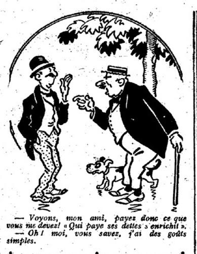 Le Pêle-Mêle 1926 - n°113 - page 10 - Voyons mon ami payez donc ce que vous me devez (G) - 18 avril 1926