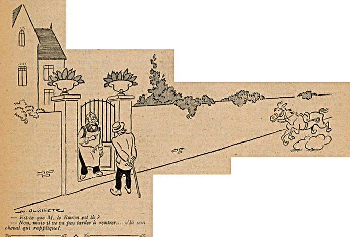 Le Pêle-Mêle 1925 - n°78 - page 6 - Est-ce que M. le Baron est là - 16 août 1925