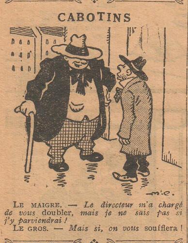 Le Pêle-Mêle 1927 - n°164 - page 10 - Cabotins - 10 avril 1927