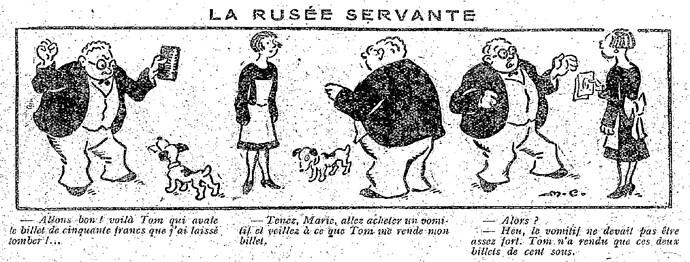 Le Pêle-Mêle 1927 - n°181 - page 6 - La rusée servante (G) - 7 août 1927