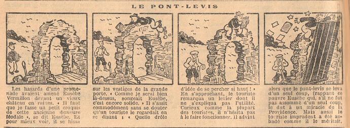 Le Petit Illustré 1929 - n°1271 - page 12 - Le pont-levis - 17 février 1929