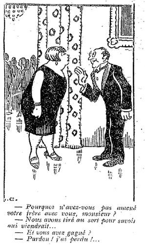 Le Pêle-Mêle 1927 - n°176 - page 3 - Pourquoi n'avez-vous pas amené votre frère avec vous (G) - 3 juillet 1927
