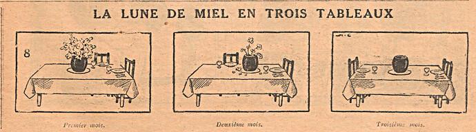 Le Pêle-Mêle 1929 - n°302 - La lune de miel en trois tableaux - 1er décembre 1929 - page 9
