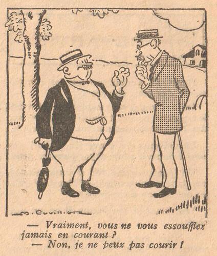 Le Pêle-Mêle 1926 - n°130 - page 8 - Vraiment vous ne vous essouflez jamais en courant - 15 août 1926