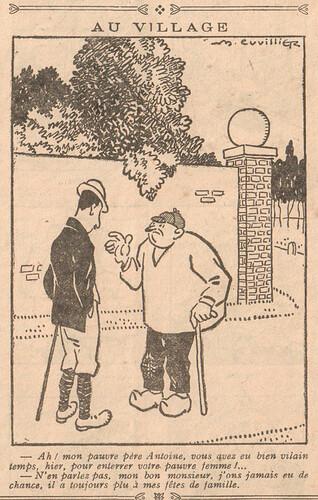 Le Pêle-Mêle 1926 - n°120 - page 16 - Au village - 6 juin 1926