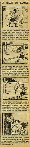 Fillette 1933 - n°1294 - page 4 - Le billet de banque - 8 janvier 1933
