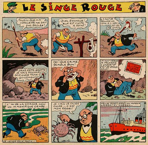 Pat épate 1949 - n°24 - Le Singe Rouge - 12 juin 1949 - page 1