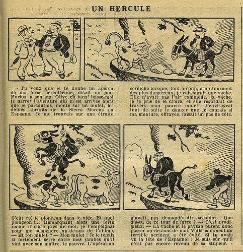 Le Petit Illustré 1932 - n°1467 - page 7 - Un hercule - 20 novembre 1932