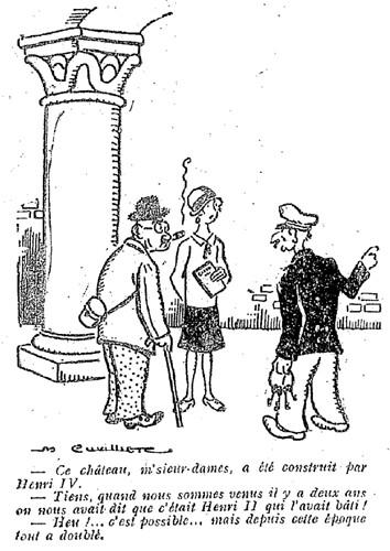 Le Pêle-Mêle 1927 - n°178 - page 16 - Ce château msieurs-dames a été construit par Henri IV (G) - 17 juillet 1927