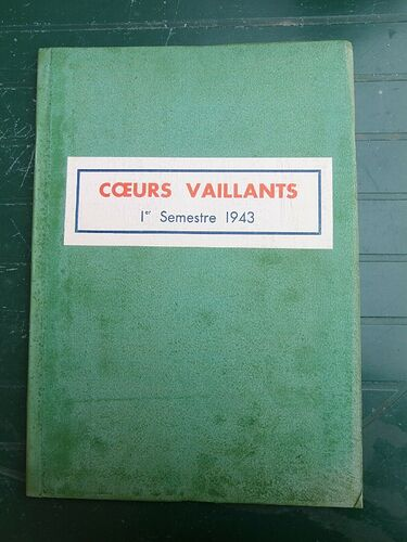 Reliure Coeurs Vaillants 1943 - 1er semestre (1)