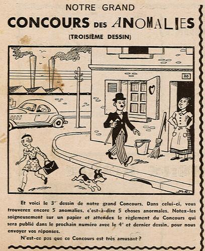 Ames Vaillantes 1938 - n°21 - page 6 - Grand Concours des Anomalies (3) - 26 mai 1938