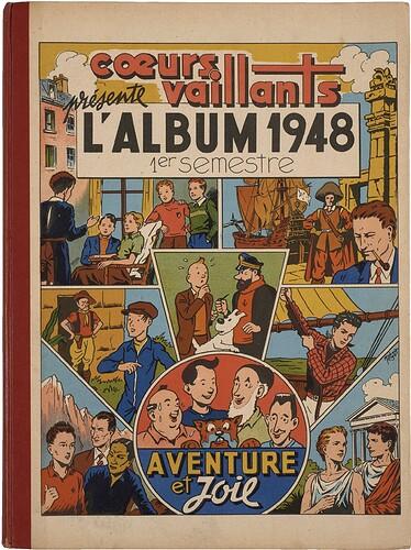 Reliure Coeurs Vaillants 1948 - 1er semestre (bis)