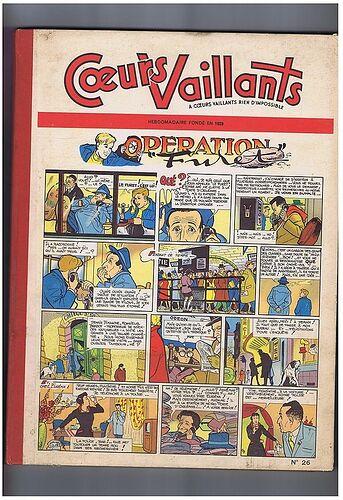 Reliure Coeurs Vaillants 1957 - n°26 - du n°1 au n°13