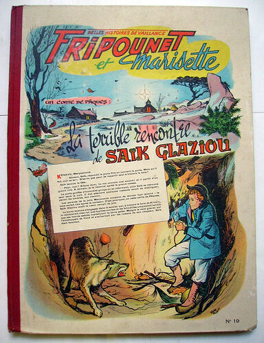 Reliure Fripounet et Marisette 1956 - n°19 - du n°1 au n°20
