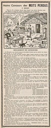 Ames Vaillantes 1938 - n°37 - page 8 - Concours de Mots Perdus (4e dessin) - 15 septembre 1938