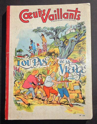 Reliure Coeurs Vaillants 1957 - n°28 - du n°27 au n°39