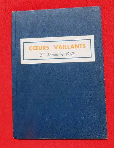 Reliure Coeurs Vaillants 1942 - 2e semestre