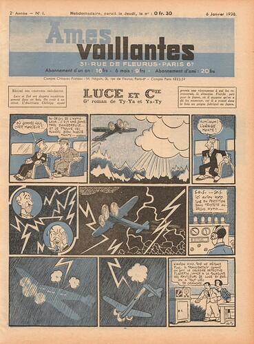 Ames Vaillantes 1938 - n°1 - 6 janvier 1938 - page 1