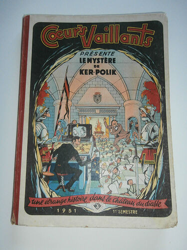 Reliure Coeurs Vaillants 1951 - 1e semestre (1 à 26)