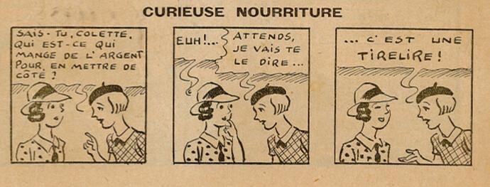 Ames Vaillantes 1938 - n°25 - page 2 - Curieuse nourriture - 23 juin 1938