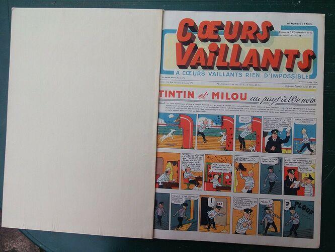 Reliure Coeurs Vaillants 1940 - 1er semestre (2)