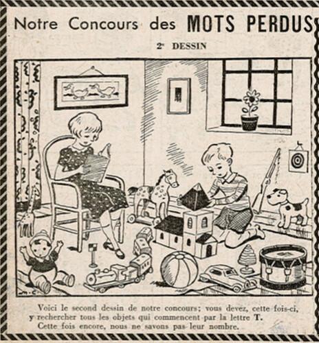 Ames Vaillantes 1938 - n°35 - page 8 - Concours des Mots Perdus (2e dessin) - 1er septembre 1938