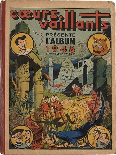 Reliure Coeurs Vaillants 1948 - 2ème semestre