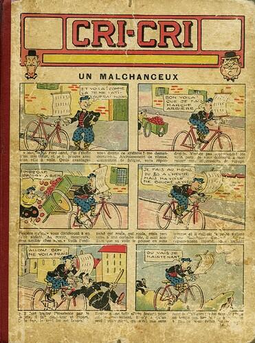 Cri-Cri 1937 - Album - Le malchanceux - couverture - du n°954 du 7-01-1397 au n°976 du 10-06-1937