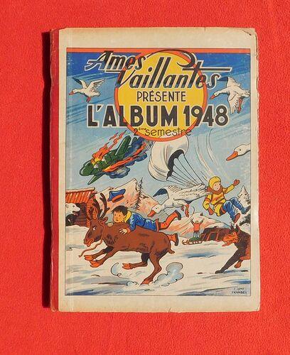 Reliure Ames Vaillantes 1948 - 2e semestre (27 à 52)