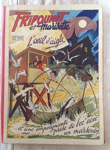Reliure Fripounet et Marisette 1952 - 2ème semestre - du n°27 au n°52
