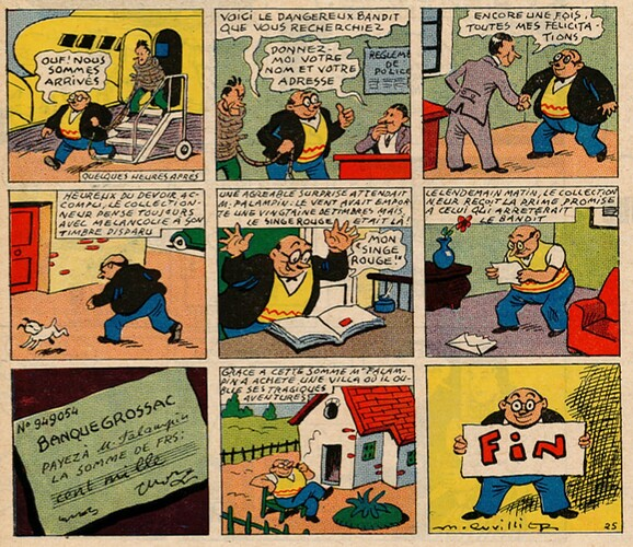 Pat épate 1949 - n°39 - pages centrales - Le Singe Rouge - 25 septembre 1949
