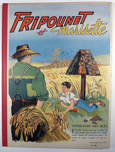 Reliure Fripounet et Marisette 1956 - n°20 - du n°21 au n°37