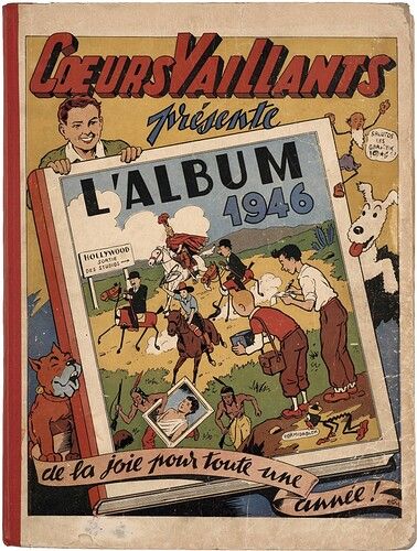 Reliure Coeurs Vaillants 1946 - du n°1 au n°22 (bis)