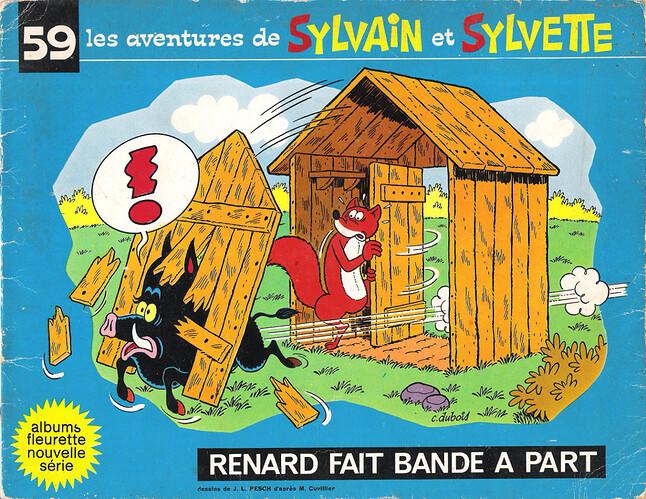 Album n°59 - Renard fait bande à part - 1973 - couverture
